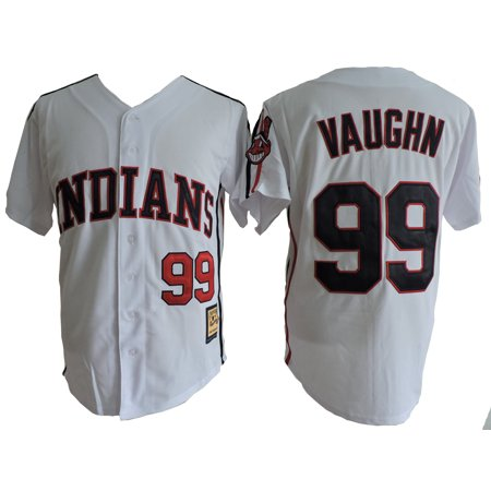 Rick Wild Thing Vaughn 99 Jersey Major League Costume Movie White Uniform Gift