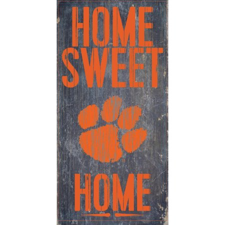 Tigers Sign - Clemson Tigers 6'' x 12'' Home Sweet Home Sign - No Size