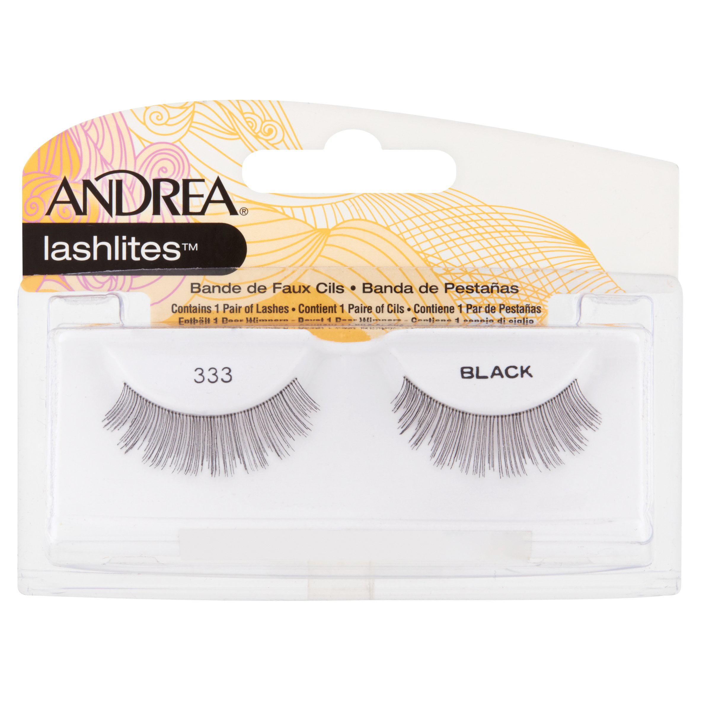 Andrea Lashlites 333 Black False Eyelashes, 1 pair