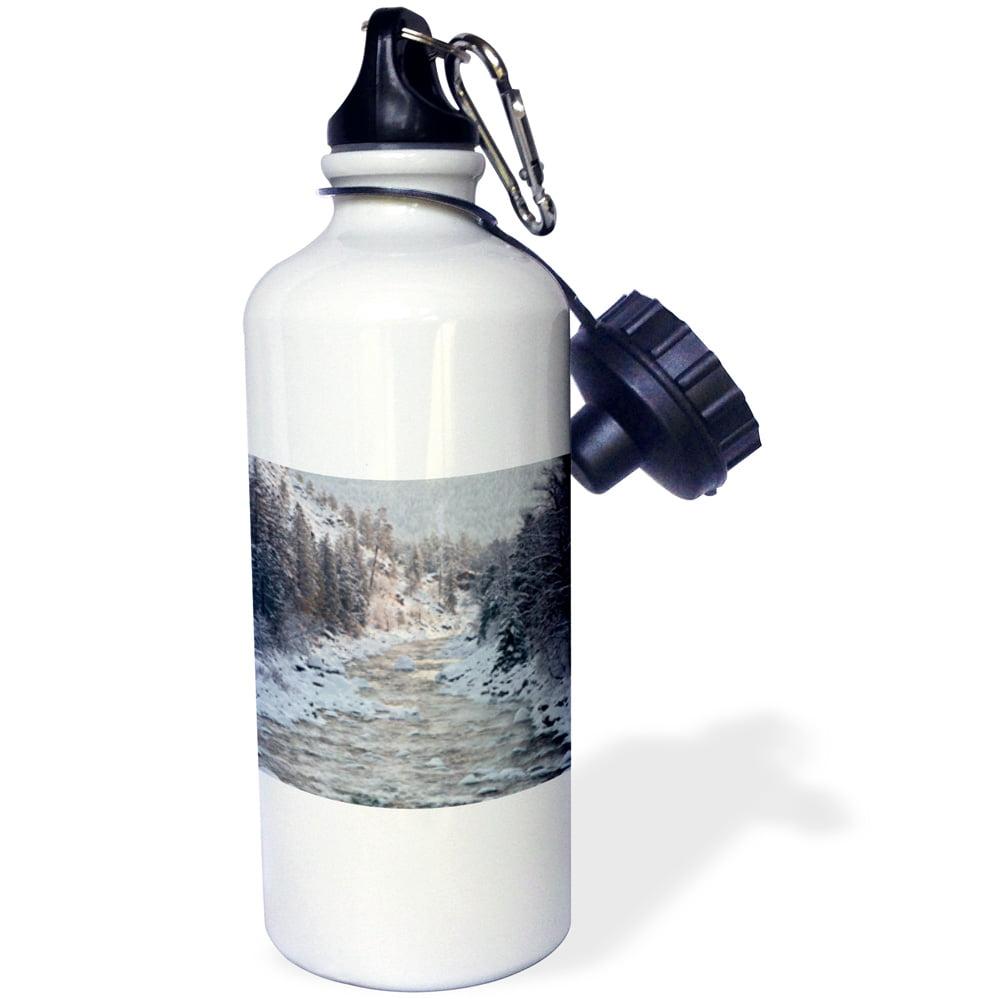 3dRose WA, Leavenworth. Winter, trees, Wenatchee River US48 BJA0284 Jaynes Gallery, Sports Water Bottle, 21oz by Supplier Generic