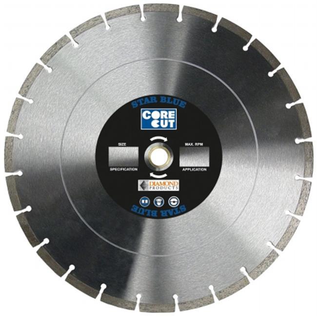 Diamond Products 70422 Core Cut 14   x . 12 x 1 Star Blue Dry Walk Behind Blade