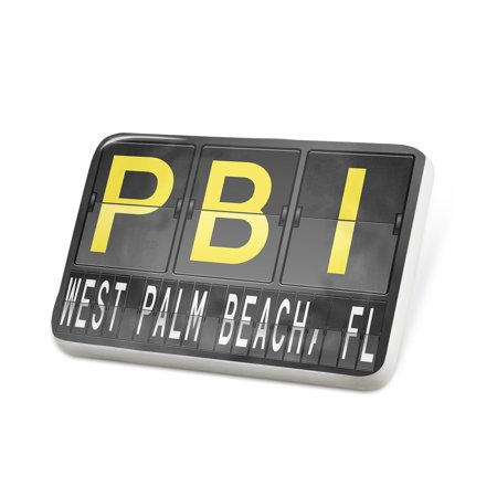 Porcelein Pin PBI Airport Code for West Palm Beach, FL Lapel Badge – (West Palm Beach Airport To Key West)