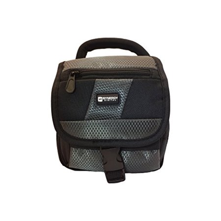 Fujifilm Finepix 2800Z Digital Camera Case Camcorder and Digital Camera Case - Carry Handle & Adjustable Shoulder Strap - Black / Grey - Replacement by Synergy