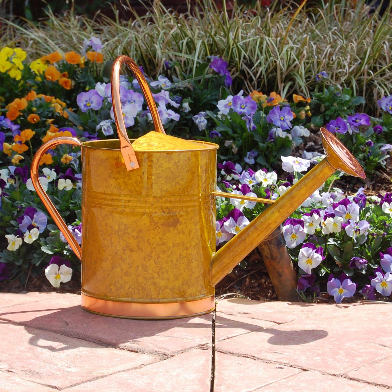 Austram-Griffith Creek Designs Deluxe Watering Can with Copper Accents by Austram Inc
