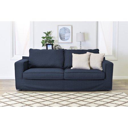Serta Colton 85 Sofa With Slipcover In Navy