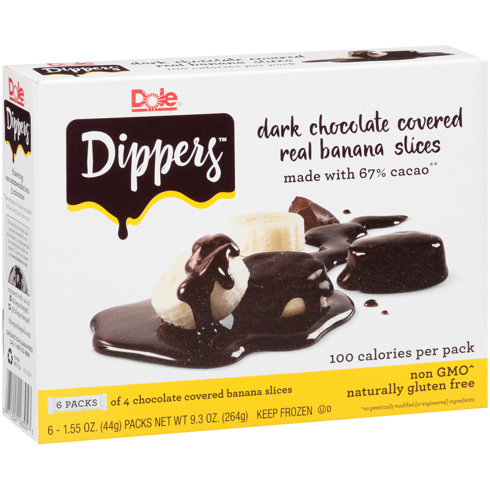 Dole Banana Dippers, 1.55 oz, 6 count