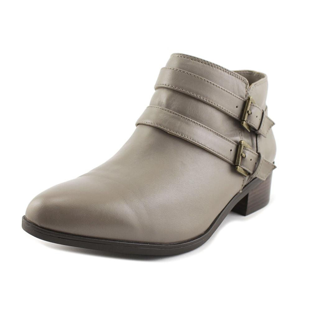 Click here to buy Bella Vita Frankie Women WW Round Toe Leather Gray Bootie by Bella Vita.