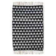 CLM Dakota Hand Woven Cotton Black/White Area Rug