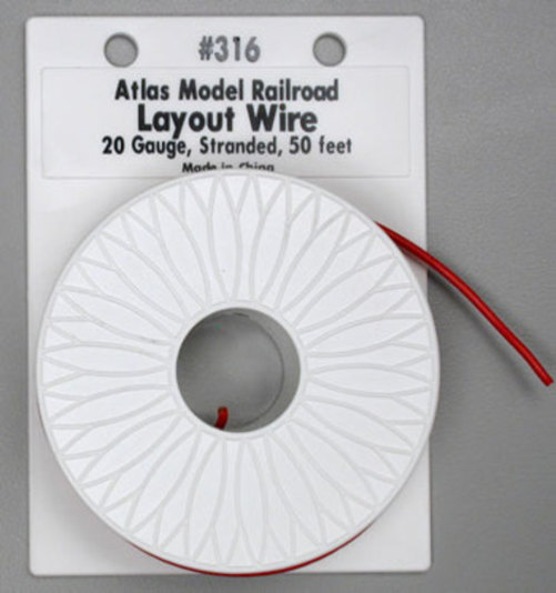 316 Layout Wire #20 Red 50'