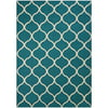 Mainstays Sheridan Fret Transitional Area Rug, Teal, 5'x7'