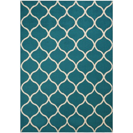 Mainstays Sheridan Fret Olefin High Low Loop Tufted Area Rug or Runner ()