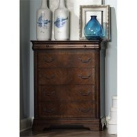Liberty Furniture Alexandria 5 Drawer Chest in Autumn Brown