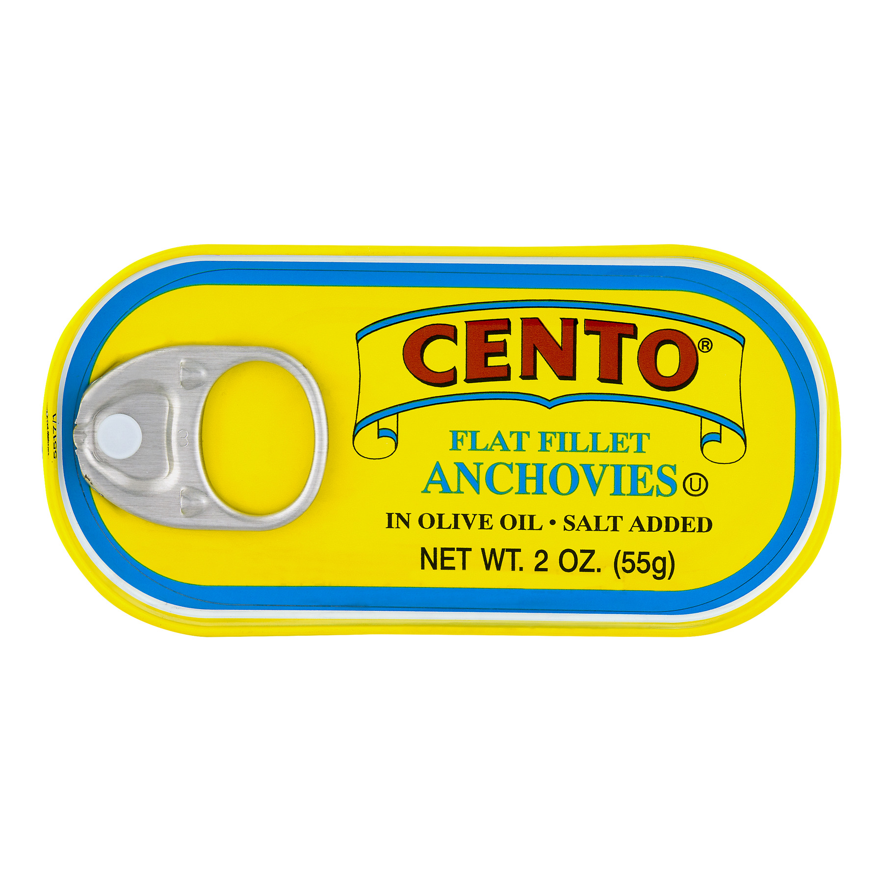 Cento Flat Fillet Anchovies in Olive Oil, 2.0 OZ