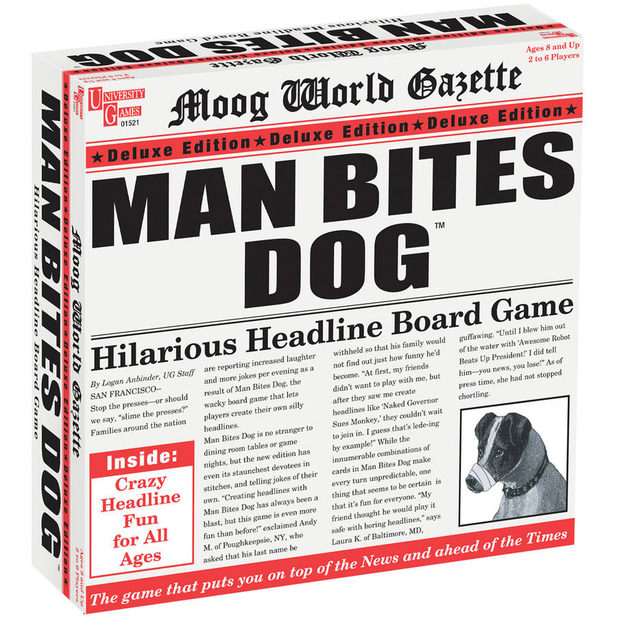 University Games Man Bites Dog Deluxe Edition by University Games