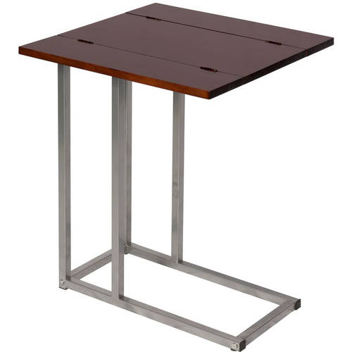 Bay Shore Collection Expandable Modern Side Table, Espresso