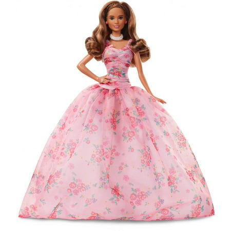 Barbie Birthday Wishes Doll with Twist Hairstyle & Pink Gown - Birthday Barbie
