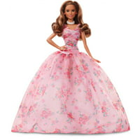 Barbie Birthday Wishes Doll with Twist Hairstyle & Pink Gown