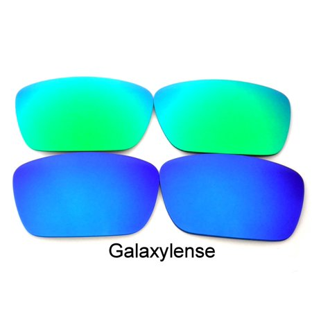 Galaxy Replacement Lenses for Oakley Fuel Cell Green & Blue