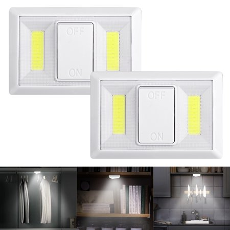 EEEKit 4/2/1 Pack Cordless Light Switch;220 Lumen COB LED Light Switch,COB LED Light/ Tap Light/LED Night Light Magnetic, Sticker for Wardrobe, Camping, Kitchen, Garage, Attic, Night Reading