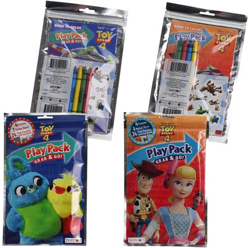 Toy Story 4 Crayon, Sticker & Coloring Paper Grab n Go Play Pack Bulk- 6 Pack - Halloween Toy Story Coloring Pages