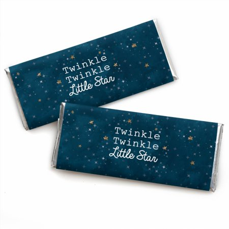 Twinkle Little Star - Candy Bar Wrappers Baby Shower or Birthday Party Favors - Set of 24 (Twinkle Twinkle Little Star Gender Reveal)