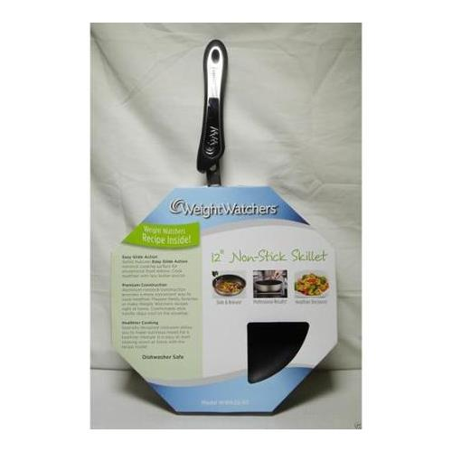 Weight Watchers 12 Stainless-Steel Nonstick Skillet""