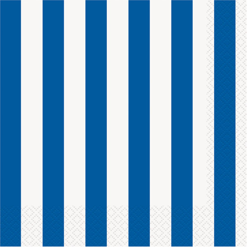 Blue Stripe Luncheon Napkins, 16pk