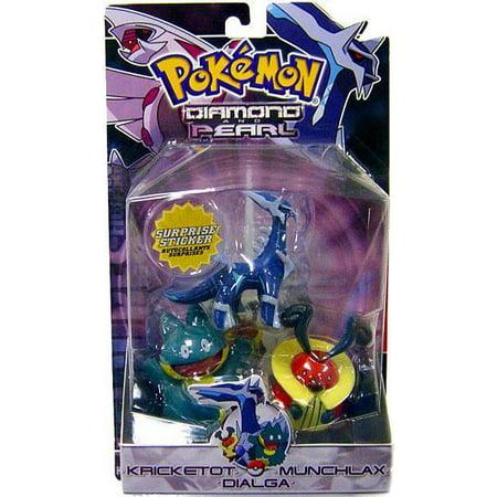 Pokemon Series 2 Dialga, Munchlax & Kricketot Figure 3-Pack (Pokemon Pearl Munchlax)