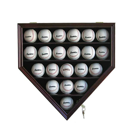 21 Baseball Display Case Cabinet Holder Wuv Protection Lockable