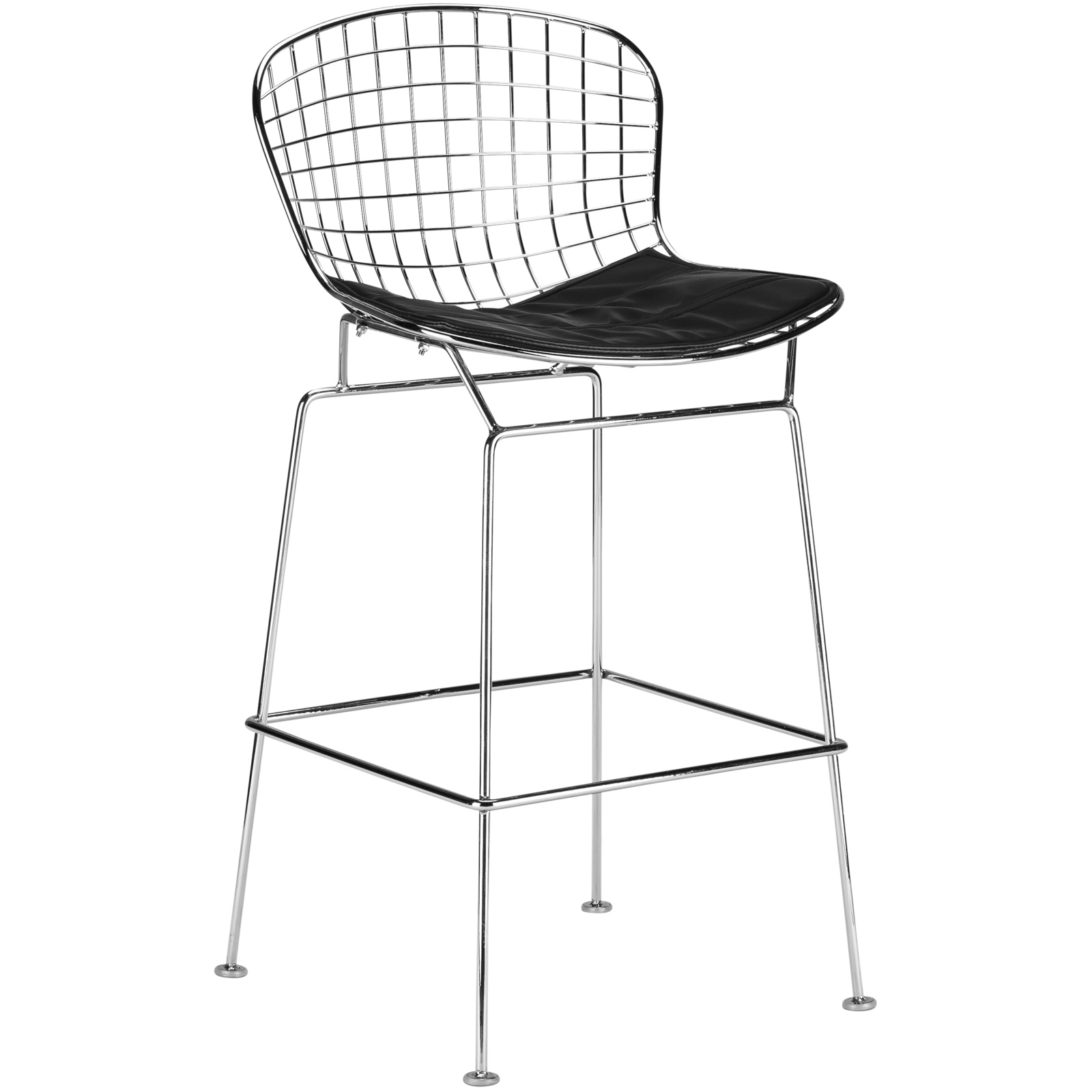 Poly and Bark Morph Counter Stool in Black