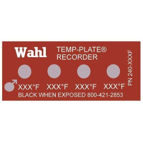 WAHL 240-202F Non-Rev Temp Indicator, Mylar, PK10