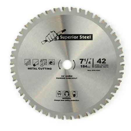 Ferrous Metal Cutting Blade (Superior Steel 18542 7-1/4