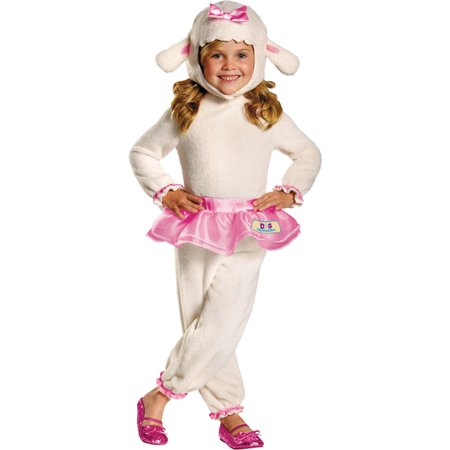 Morris Costumes Girls Long Sleeve Lambie Mcstuffin Toddler Costume 4-6, Style DG69808L