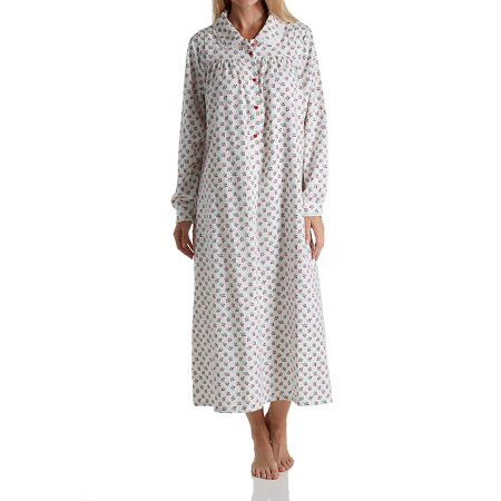 56861abeff Lanz Of Salzburg - Lanz of Salzburg 5616828 Long Sleeve Flannel Gown with  Peter Pan Collar - Walmart.com