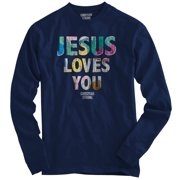 Jesus Loves You Christian T Shirt | Religious Gift God Faith Long Sleeve Tee