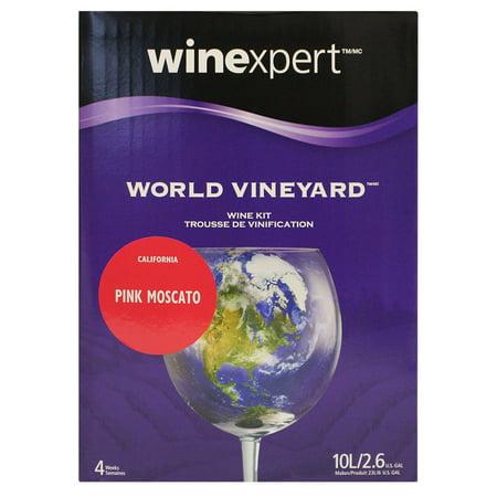 World Vineyard California Pink Moscato Wine Ingredient Kit (Sweet Wine Moscato)