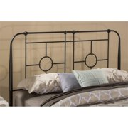 Hawthorne Collections Twin Metal Duo Headboard in Black Sparkle