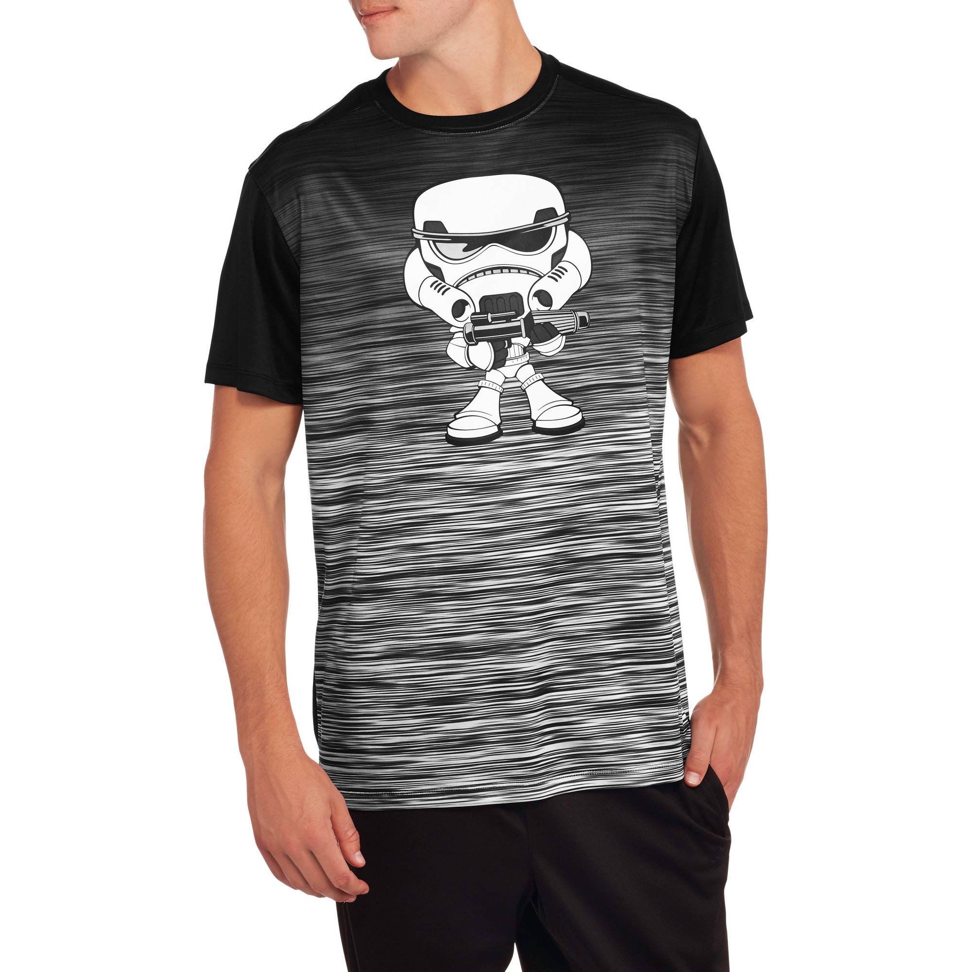 Star Wars Storm Trooper Kawaii Men's Graphic Poly Tee