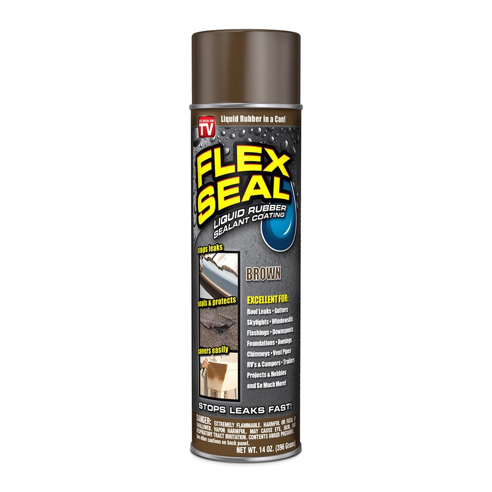 Flex Seal Spray Rubber Sealant Coating, 14-oz, Brown