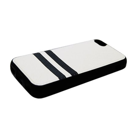 factory price 16115 2aedd Insten Stripes PC/TPU Rubber Case Cover for Apple iPhone 5C - Black/Red
