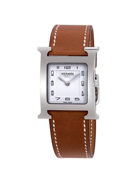 Hermes Heure H White Dial Ladies Medium Watch 036793WW00