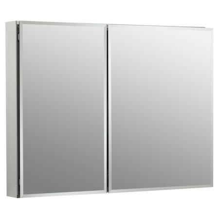 Kohler Double Door Aluminum Cabinet with Mirrored Doors
