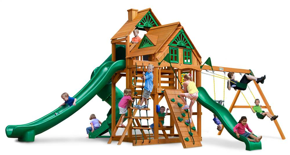 Gorilla Playsets Great Skye II Treehouse Swing Set with Amber Posts by Gorilla Playsets