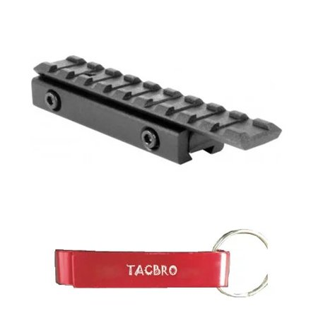 TACBRO DOVETAIL TO WEAVER BASE MOUNT with One Free TACBRO Aluminum Opener(Randomly Selected