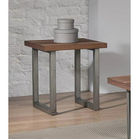 Coaster Home Furnishings 705647 End Table, Walnut/Espresso Coaster Home Furnishings 705647 End Table, Walnut/Espresso