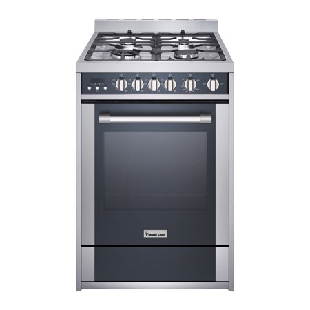 Magic Chef 24 Inch Freestanding Gas Range, Stainless and Black (Gas Range Black)