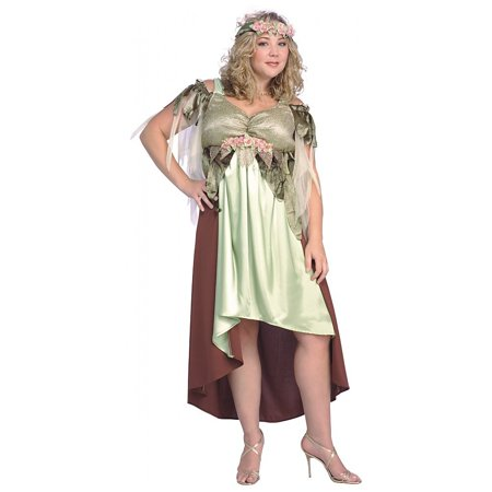 Mother Nature Plus Size Adult Costume - Queen](Homemade Mother Nature Costume)