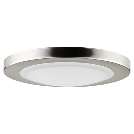 Dove Light - SUNLITE 15w Mini Dome Ceiling Light Fixture in Brushed Nickel - 4000K