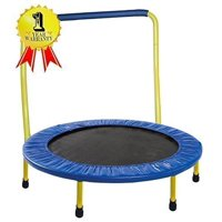 Gymenist 36-Inch Kid Trampoline, with Folding Handle Bar, Blue/Yellow