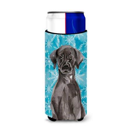 Black Labrador Winter Michelob Ultra Hugger for Slim Cans - image 1 de 1